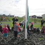 Leikskólinn Laut í Grindavík fékk Grænfána í þriðja sinn