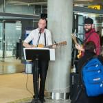 Voice-stjarna tók lagið fyrir fyrsta flug Icelandair til Chicago