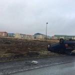 Bílvelta á Reykjanesbraut
