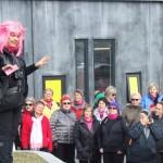 Fróðleikur og fjör hjá 200 konum í kvenfélagsgöngu í Grindavík