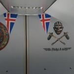 Fánum skreytt Iron Maiden vélin klár í Frakkland – Myndir!