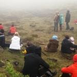 Fámennt en góðmennt í Jónsmessugöngu Grindavíkurbæjar og Bláa lónsins