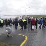 Fjölmenn minningarstund við Reykjanesbraut
