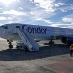 Flugvél Condor-air lenti með meðvitundarlausan farþega í Keflavík