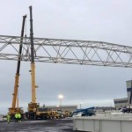Nýtt 10.500 fermetra flugskýli Icelandair rís á Keflavíkurflugvelli
