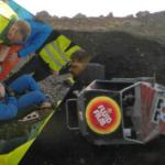 Torfærukeppni stöðvuð vegna slyss